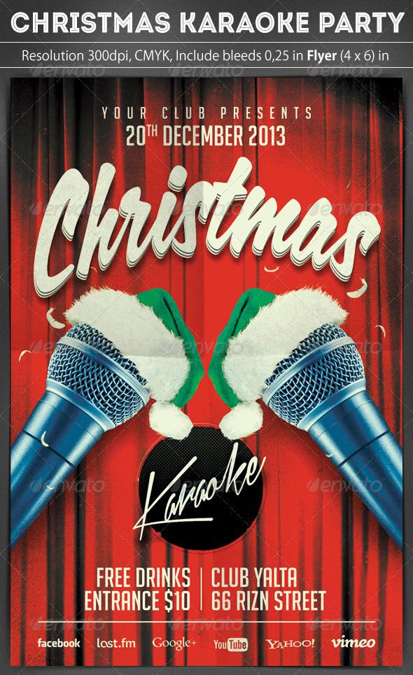 Christmas Karaoke Flyer by grapulo | GraphicRiver