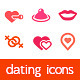 Dating Icons - GraphicRiver Item for Sale