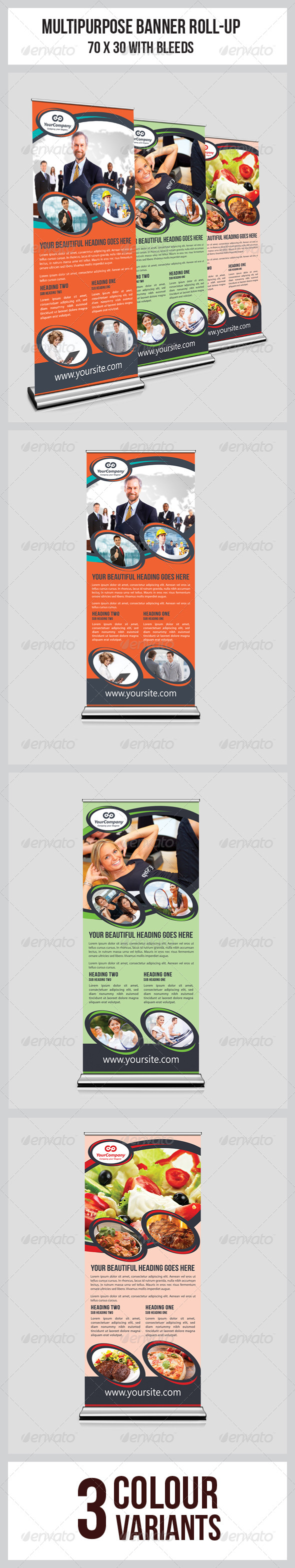 Edit Multipurpose Business Roll-Up  - Signage Print Templates