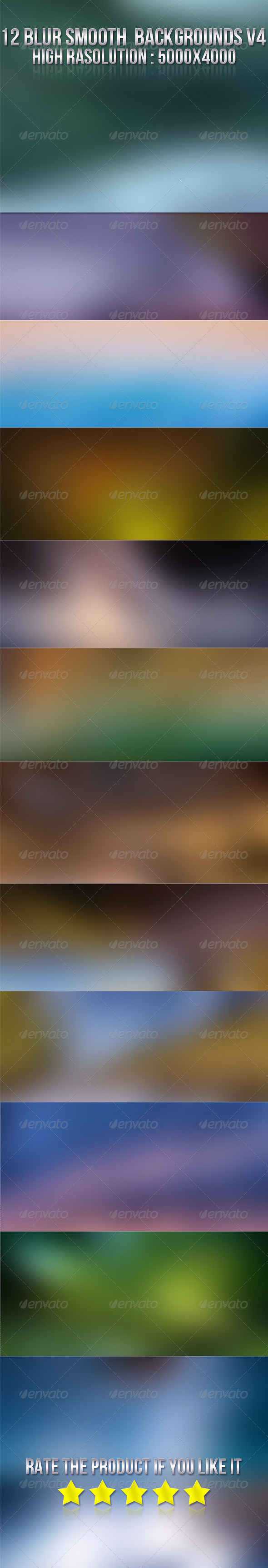 12 Smooth Blur Backgrounds V4 - Abstract Backgrounds