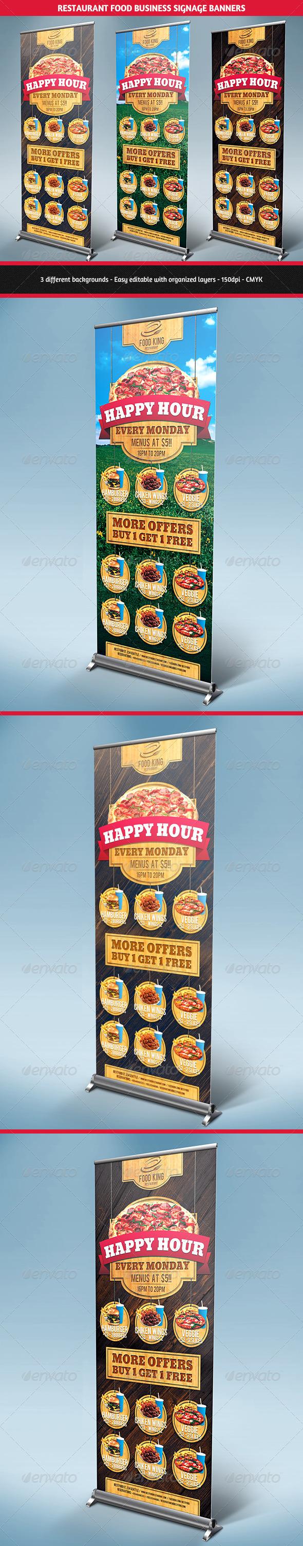Restaurant Food Promotion Signage Banners - Signage Print Templates