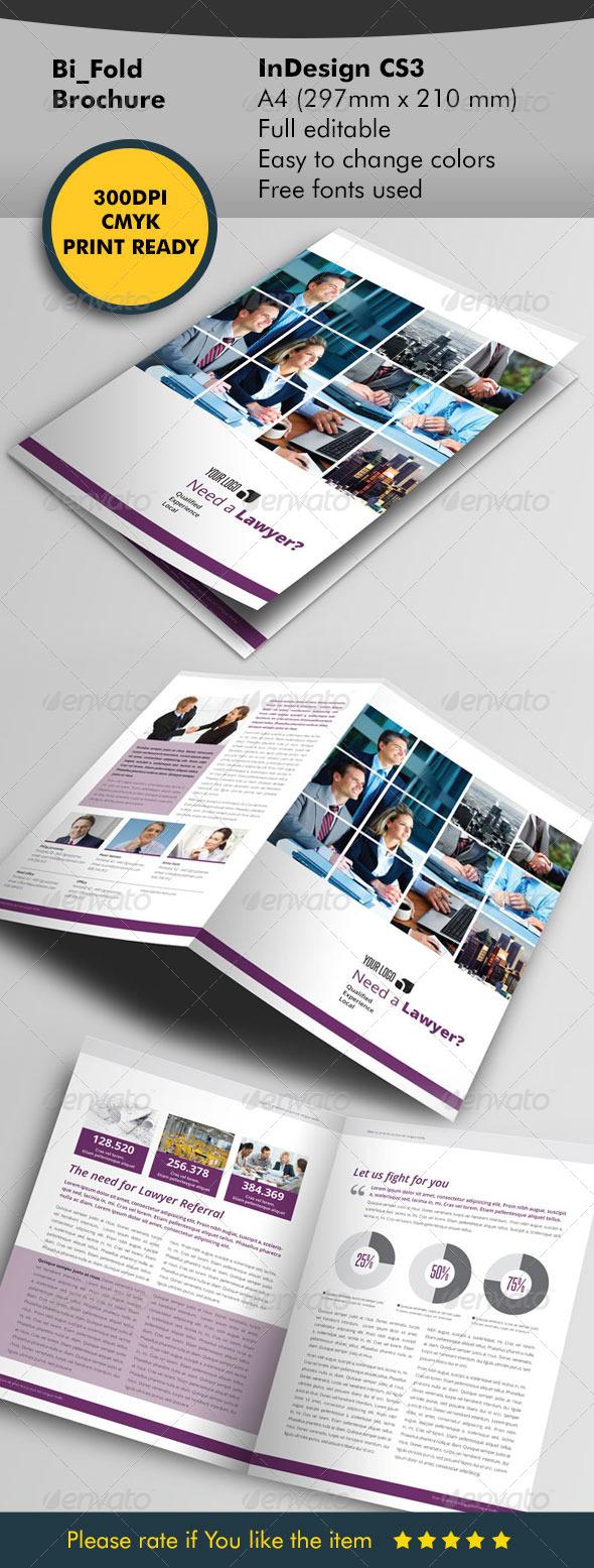 Lawyer Bifold Brochure - Corporate Brochures