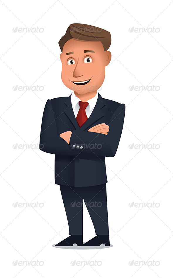 Confident Businessman - People Characters