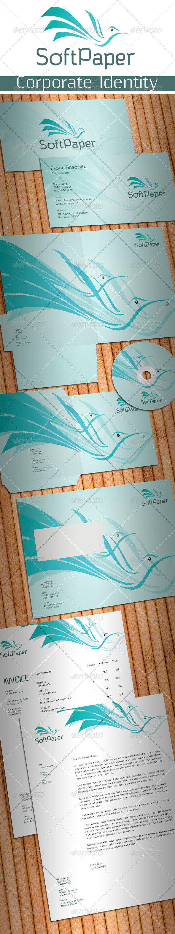 Soft Paper Stationery - Stationery Print Templates