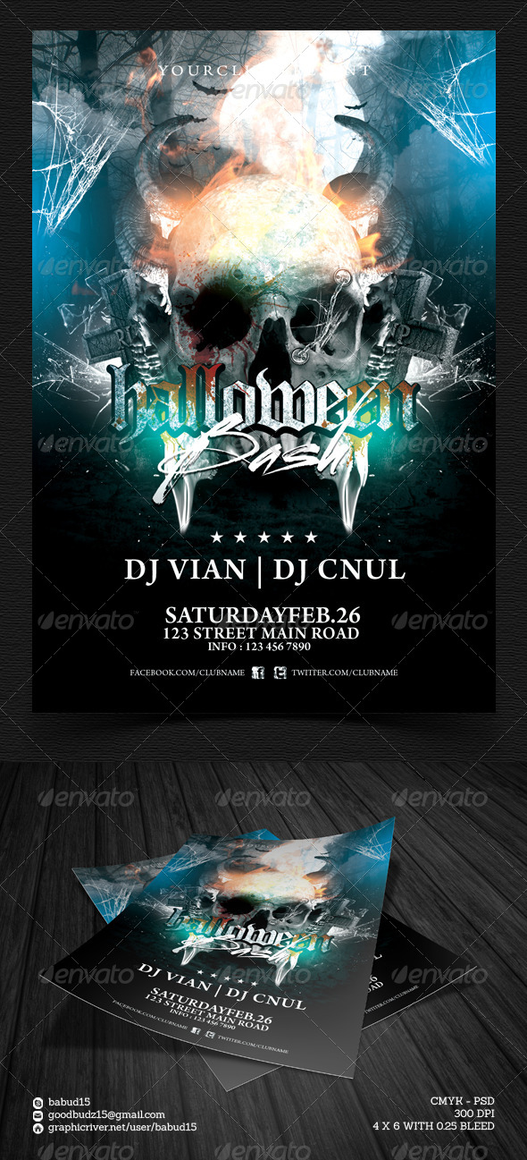 Halloween Bash Flyer Template - Events Flyers