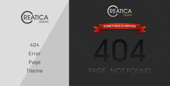 Creatica – 404 Error Theme