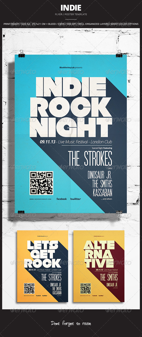 Indie Flyer / Poster 12 - Events Flyers