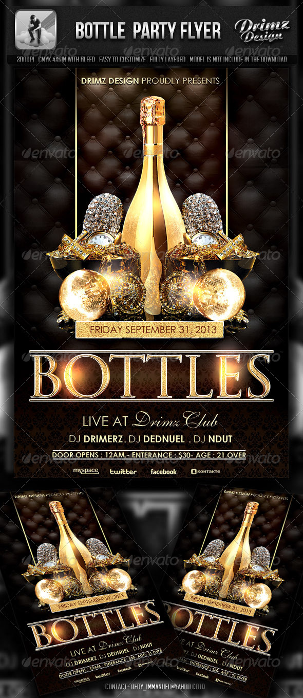Bottle Party Flyer - Events Flyers
