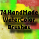 74 Watercolor Brush Set - GraphicRiver Item for Sale