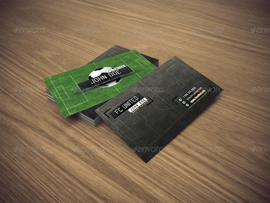 Business Card Soccer Coach Industry Specific Cards Image Preview 01 Jpg
