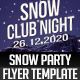 Snow Party Flyer Template - GraphicRiver Item for Sale
