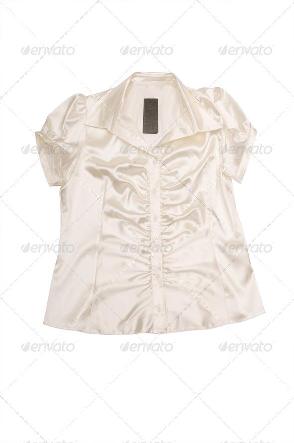 Elegant shirt on a white. - Stock Photo - Images