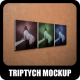 Triptych Mock-Up Square Edition - GraphicRiver Item for Sale