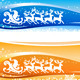Santa Sleigh Christmas Backgrounds - GraphicRiver Item for Sale