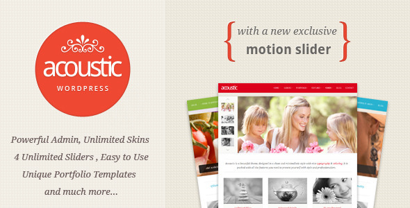 Acoustic - Powerful Elegant WordPress Theme - Portfolio Creative