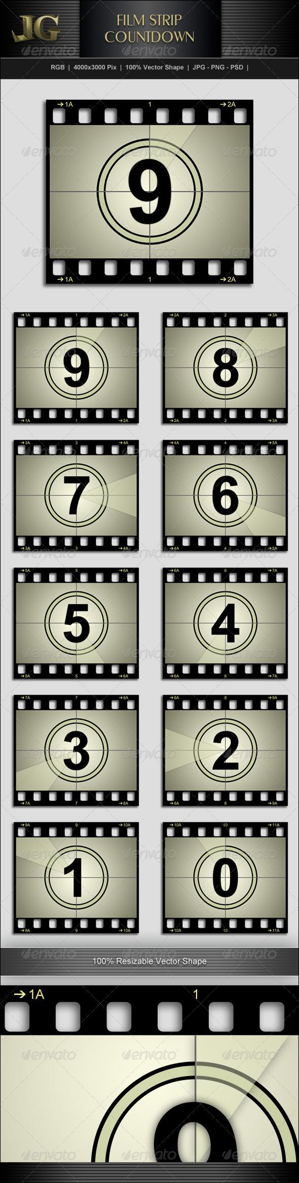 Movie Strip Countdown - Miscellaneous Graphics