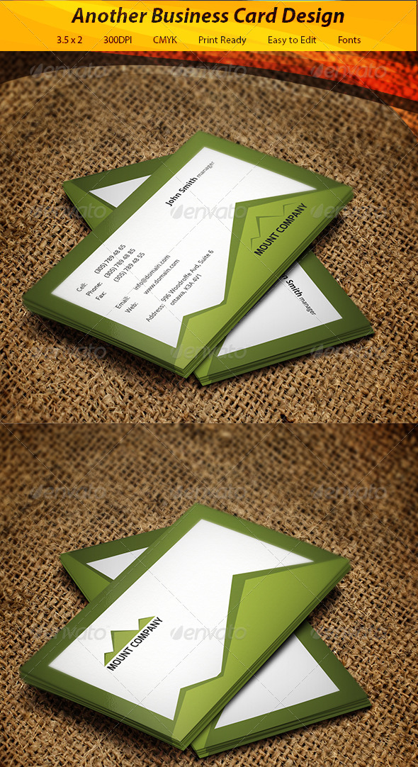 Mount Business Card - Creative Business Cards