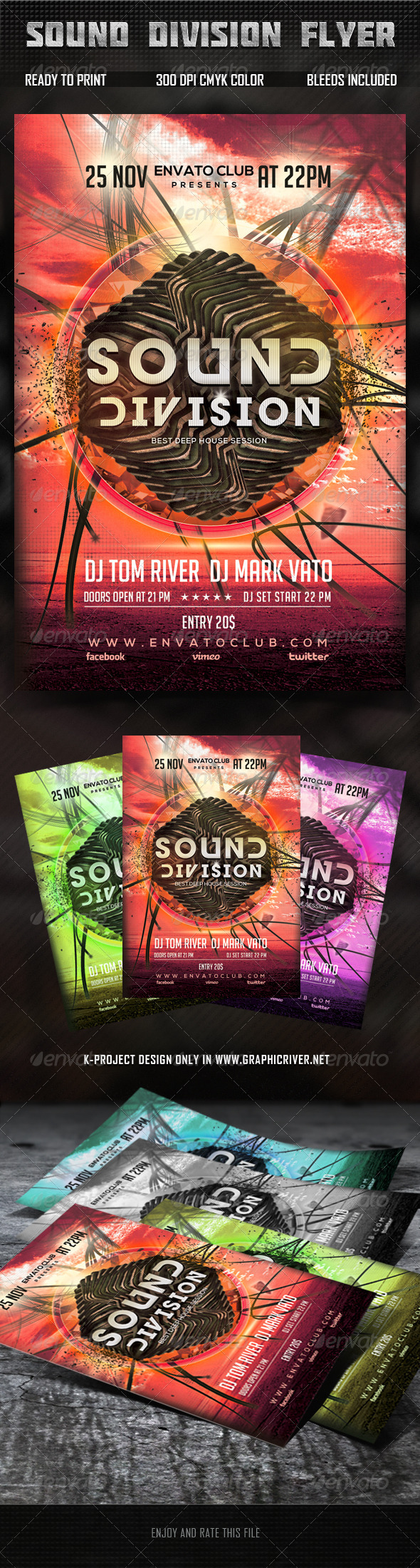 Sound Division Flyer - Clubs & Parties Events