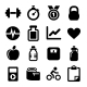 Fitness icons set - GraphicRiver Item for Sale