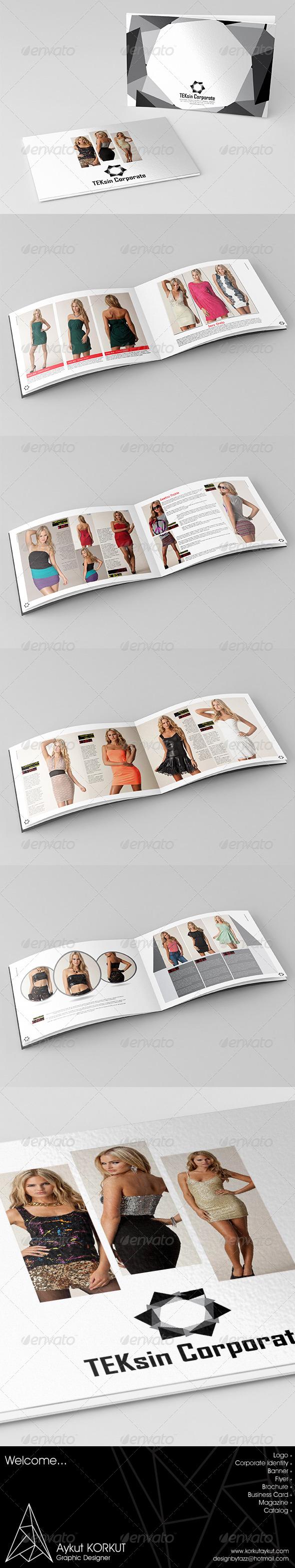 Teksin Corporate Catalog Template - Catalogs Brochures