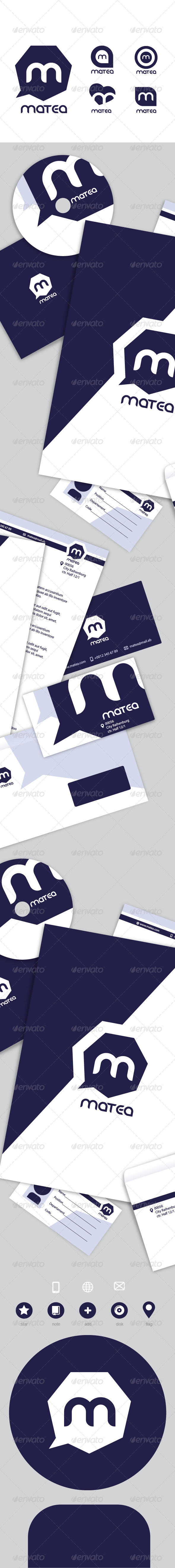 Matea Stationary Pack - Stationery Print Templates