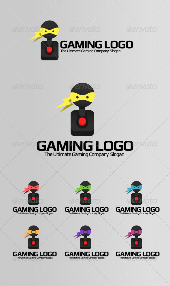 Gaming Logo - Ninja Games