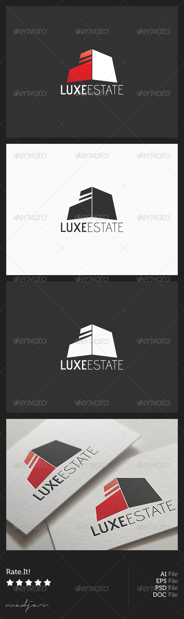 Luxe Estate Logo - Buildings Logo Templates