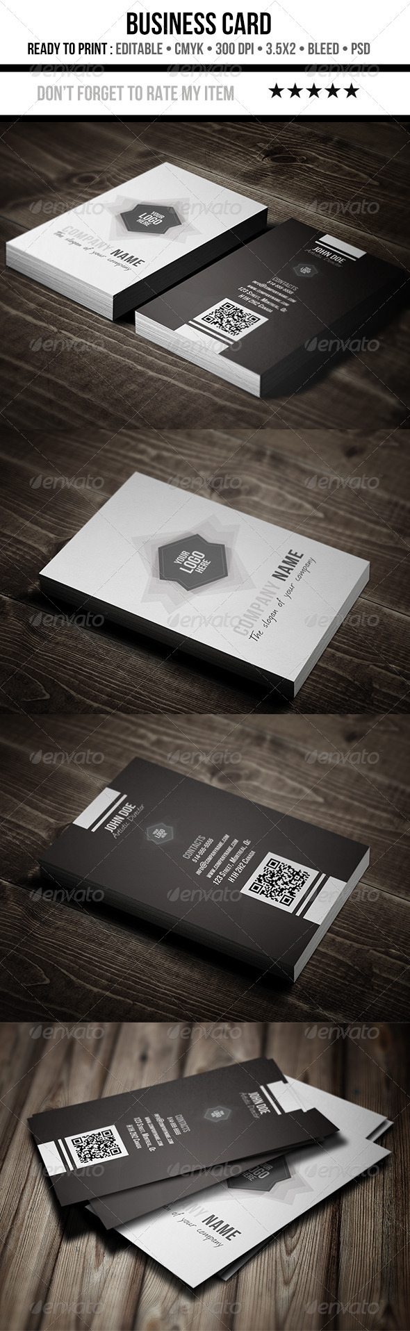 Creative Black & White Business Cards - Creative Business Cards