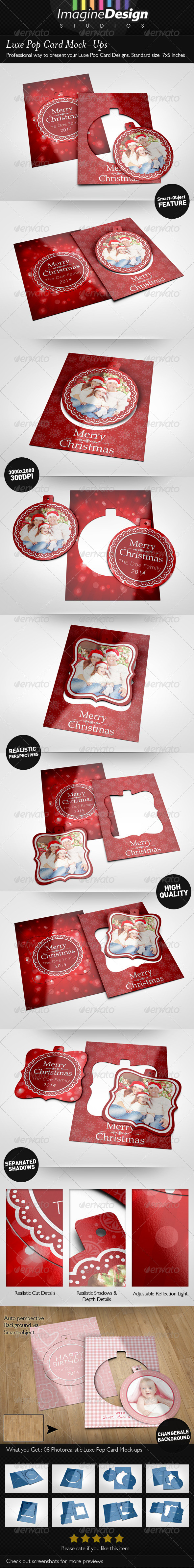 Luxe Pop Card Mock-Ups - Miscellaneous Print