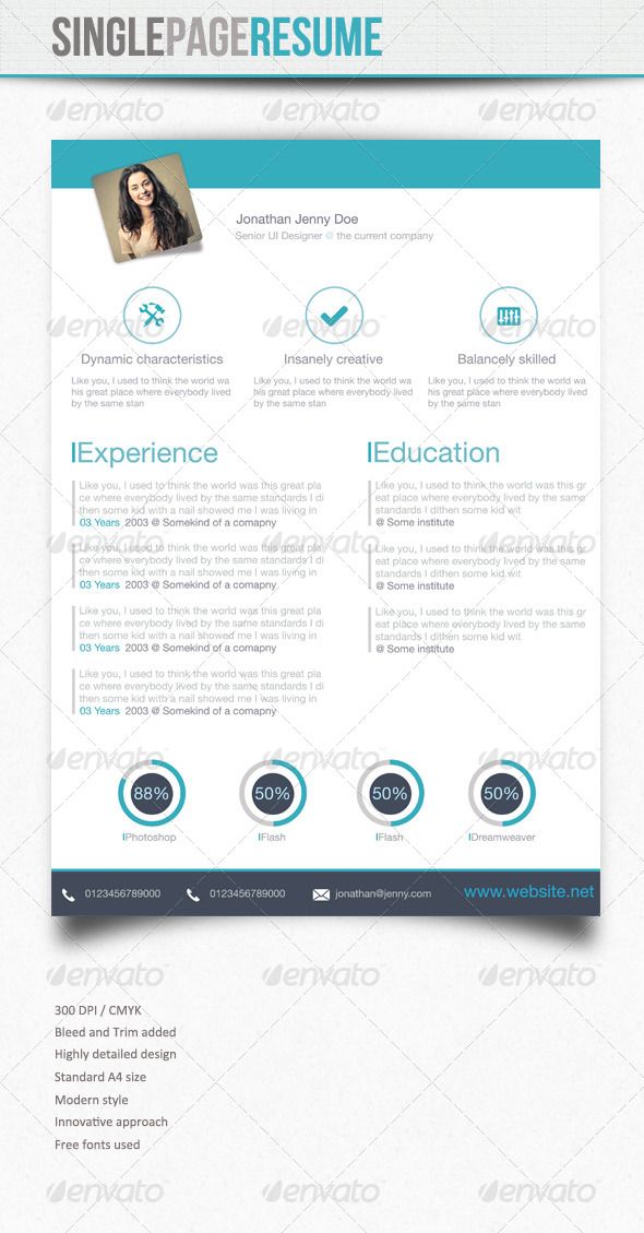 Simple Resume : 5 - Resumes Stationery