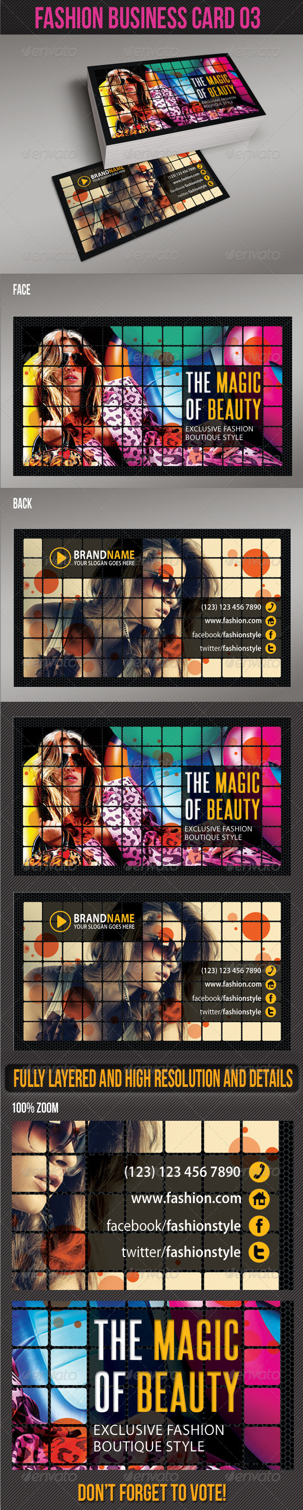 Fashion Business Card 03 - Creative Business Cards