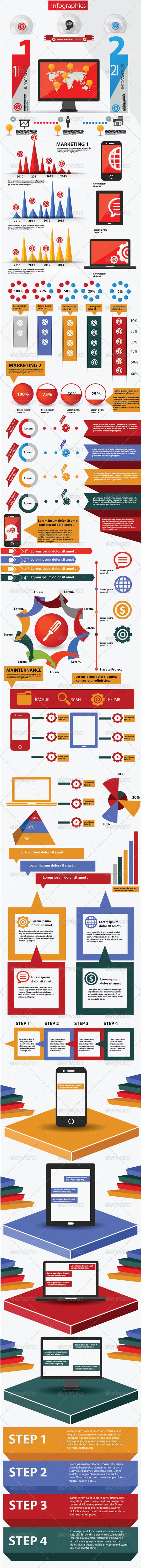 Infographics,Elements & Technology Graphics Design - Infographics