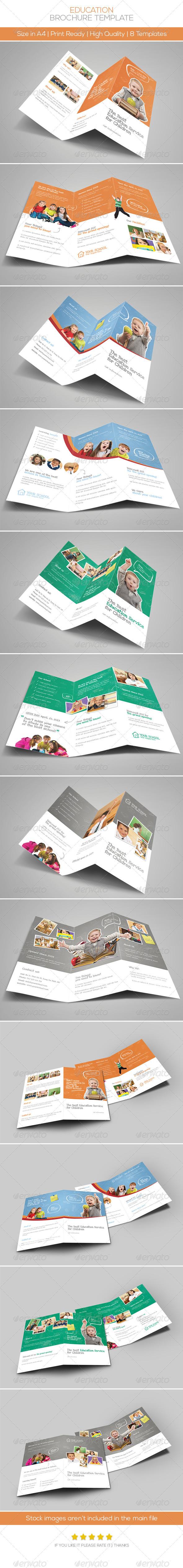 Premium Education Brochure Tri-fold & Bi-fold - Brochures Print Templates