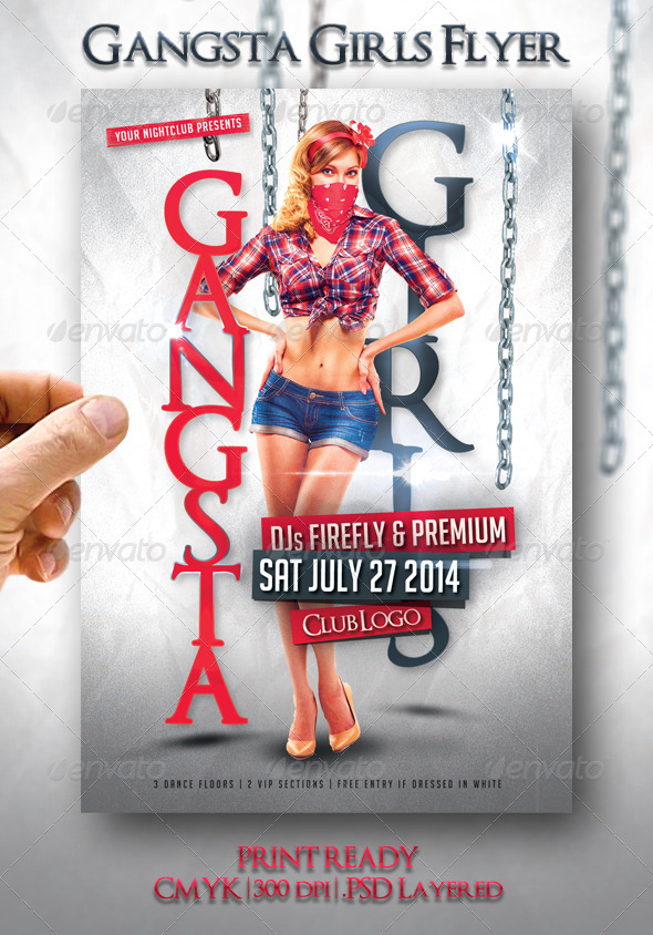 Gangsta Girls Flyer  - Events Flyers
