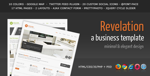 Revelation – Elegant and Minimal Business Template
