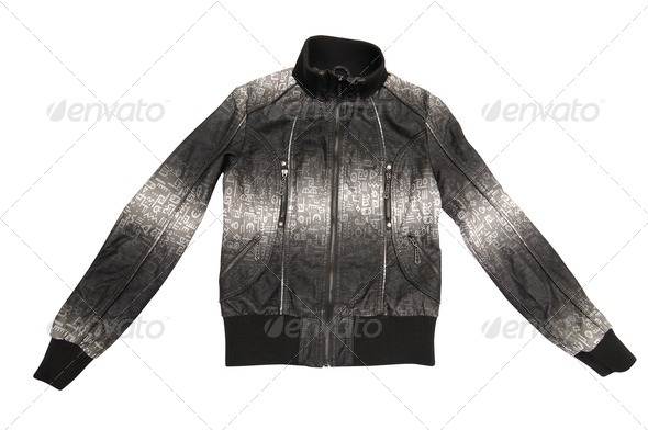 Elegant jacket on a white. - Stock Photo - Images