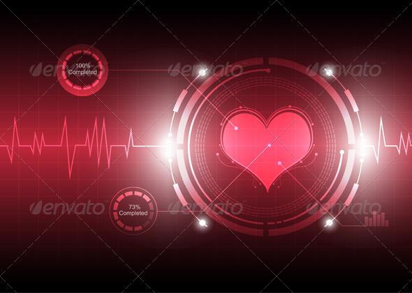 Cardiograph Technology - Health/Medicine Conceptual