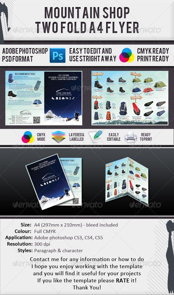 Mountain Gear Shop A4 2 Fold Brochure - Catalogs Brochures