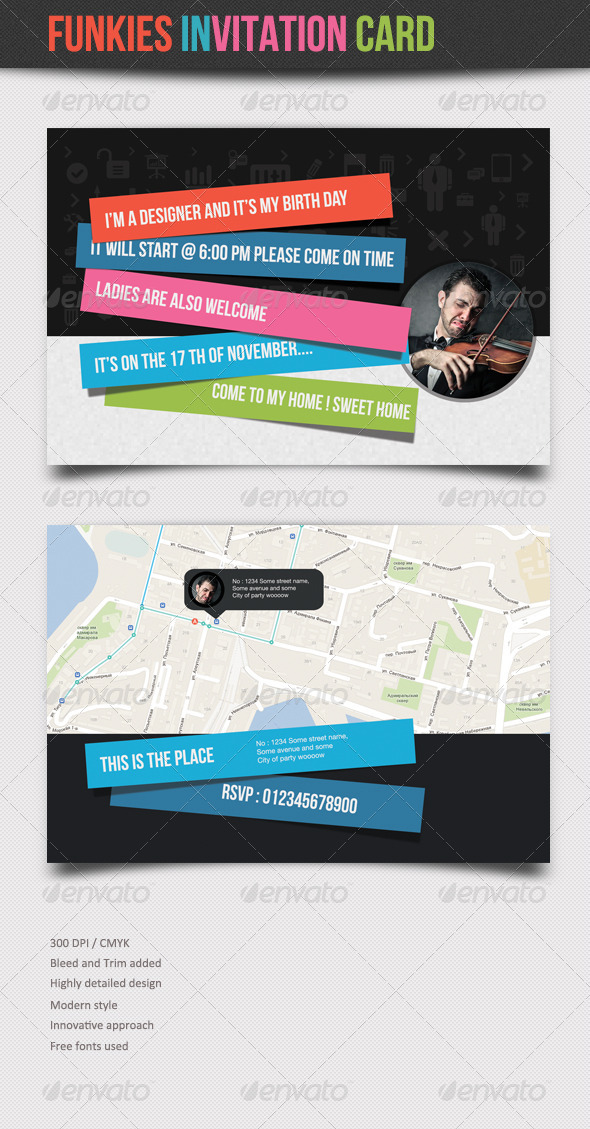 Funkies :: Invitation Card - Invitations Cards & Invites