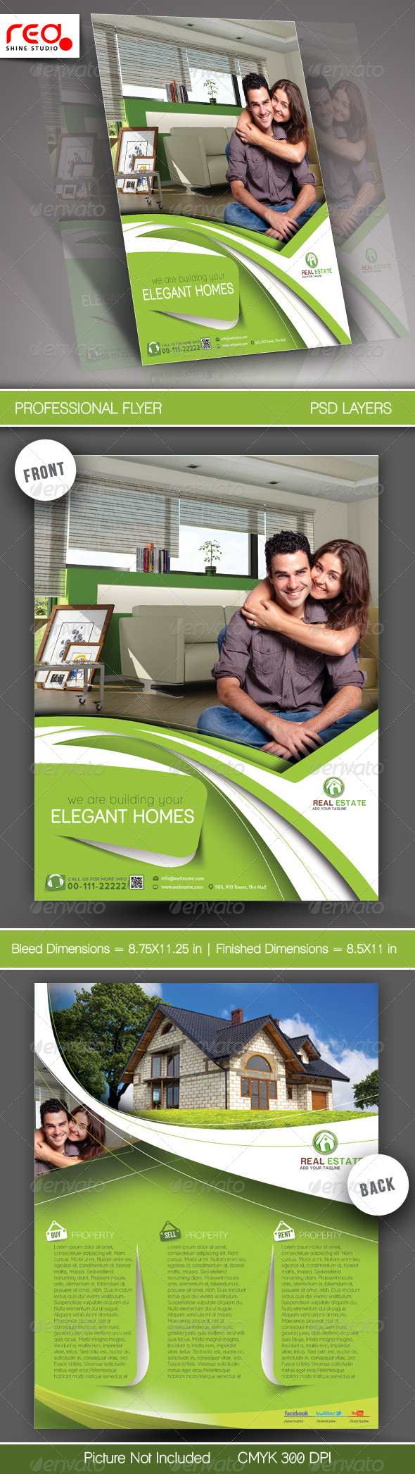 Real Estate Flyer & Poster Template - Corporate Flyers