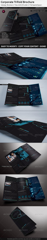Trifold Indesign Brochure // US Letter // Din A4 - Corporate Brochures
