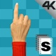 Hand Gestures Woman Red Shirt   - VideoHive Item for Sale