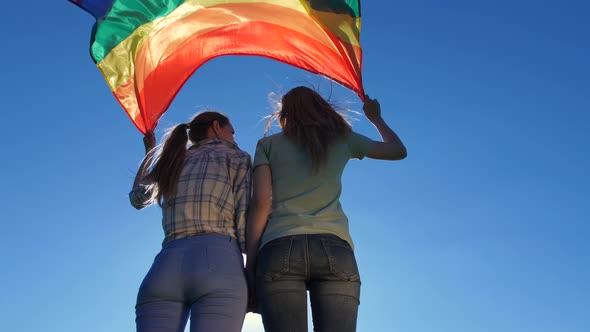 Lesbian standing 69