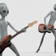 Alien Playing Bass Guitar - VideoHive Item for Sale