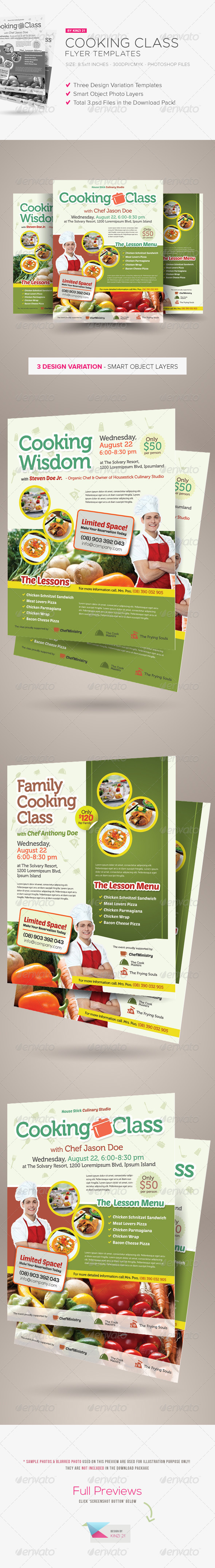 Cooking Class Flyers - Corporate Flyers