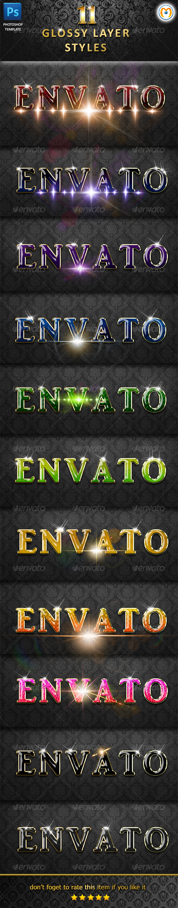 Glossy Layer Styles V.2 - Text Effects Styles