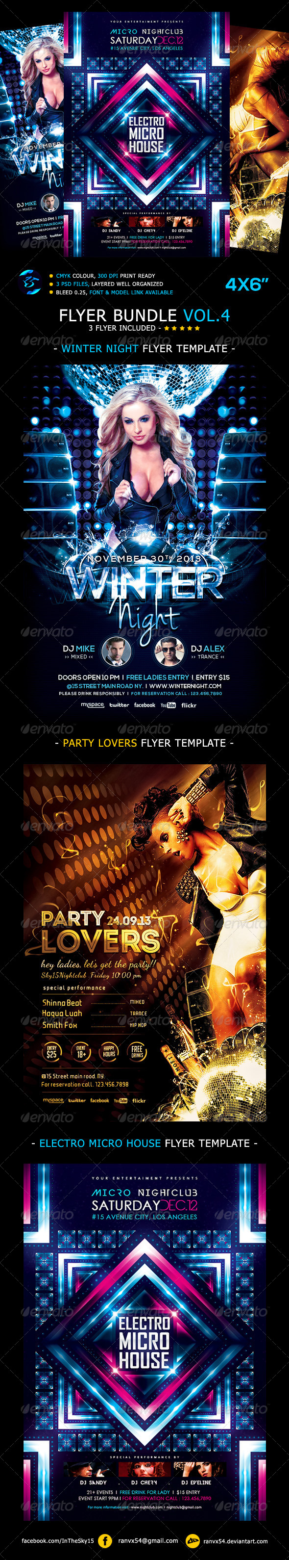 Flyer Bundle Vol.4 - Clubs & Parties Events