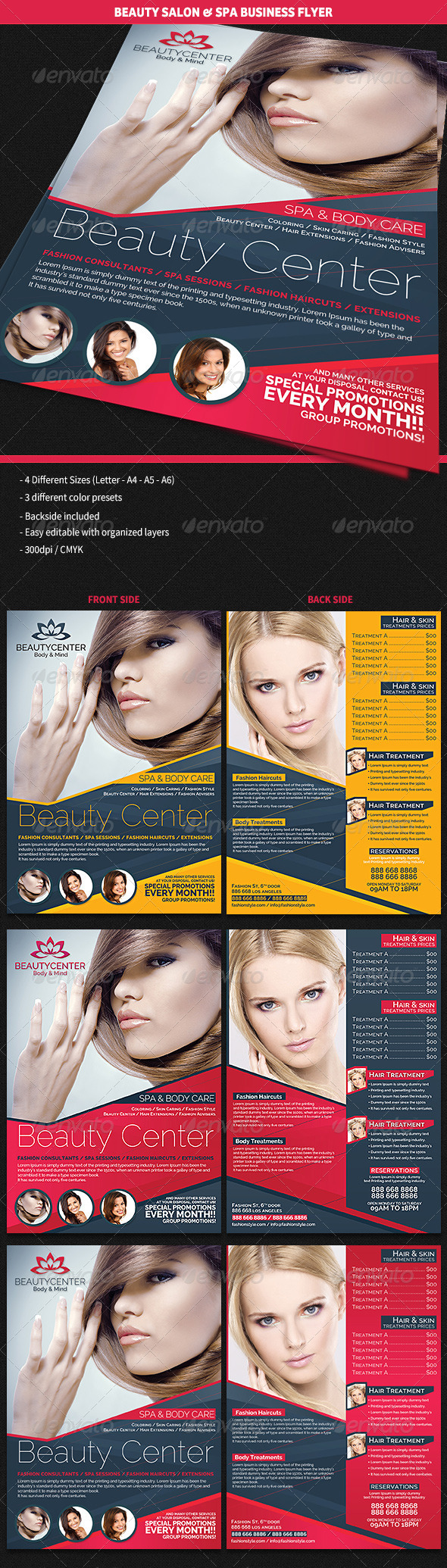 Beauty Center & Spa Business Flyer - Corporate Flyers