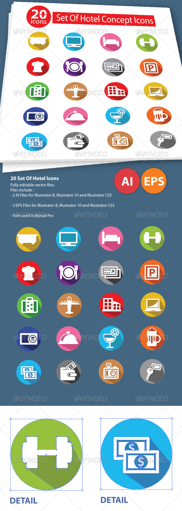 20 Set Of Hotel Icons - Icons