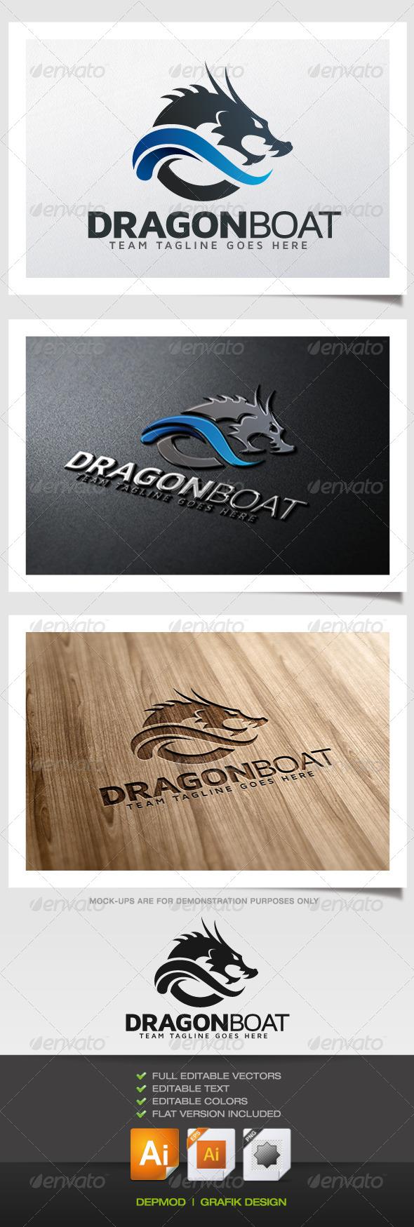 Dragon Boat Logo - Symbols Logo Templates